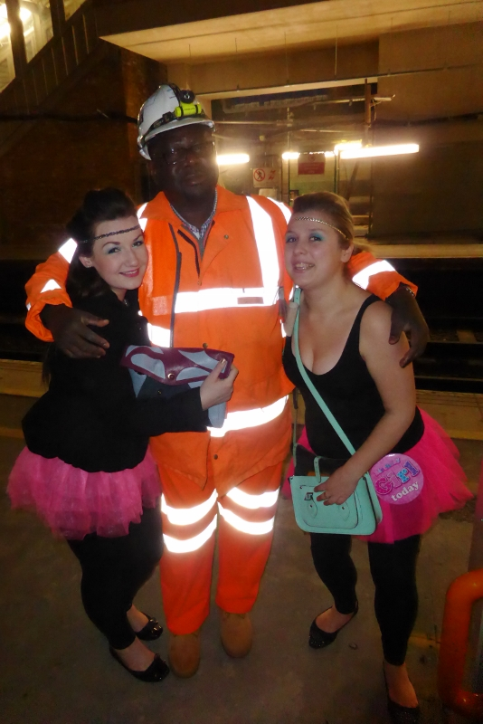 John from TfL would have fitted right in with his fabulous neon jumpsuit.