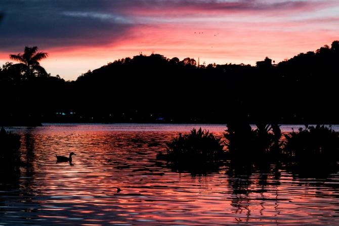 sunset Sri Lanka Kandy lake