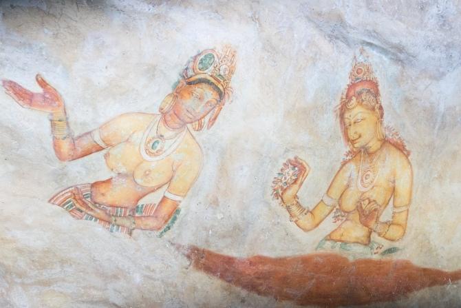 Sri Lanka Sigiriya cave paintings