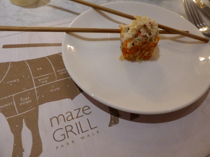 Maze Grill Park Walk restaurant review