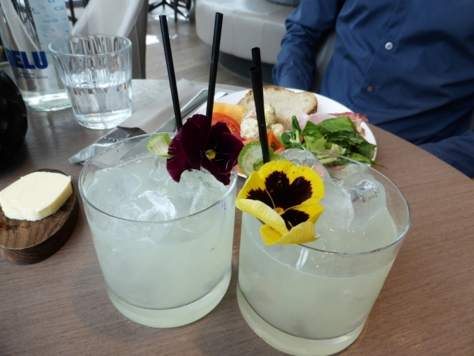 'Gypsy' elderflower and gin cocktails - £11.50 each.