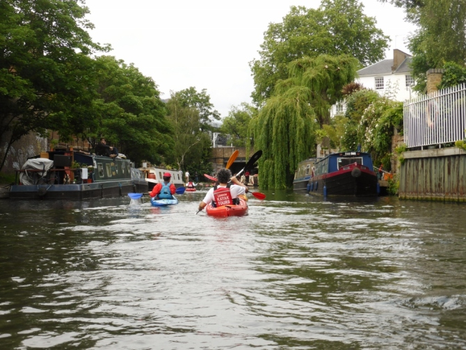 London Kayak Tours review Regent's Canal London things to do