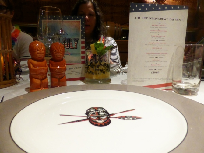 Trader Vic's Independence Day Park Lane restaurant review