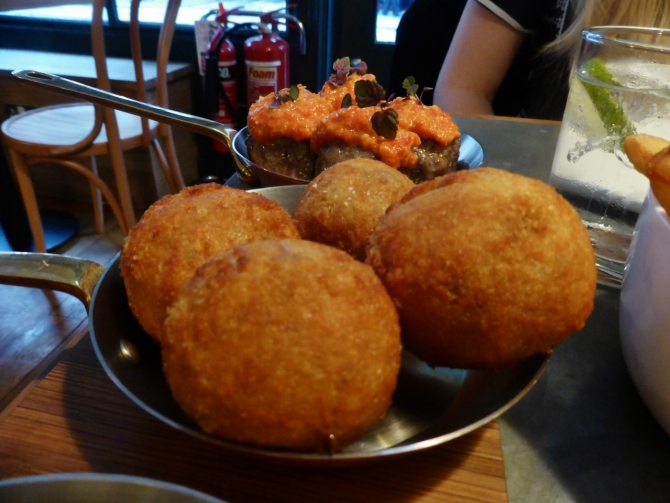 Balls and Company Soho Greek Street meatballs restaurant review