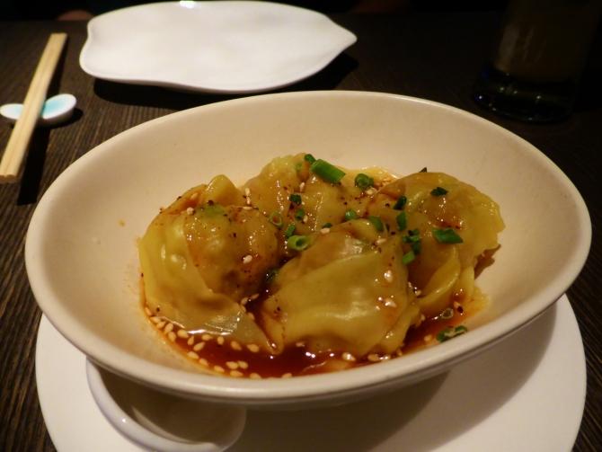 Yauatcha Spicy Szechuan Pork Wonton dim sum Soho
