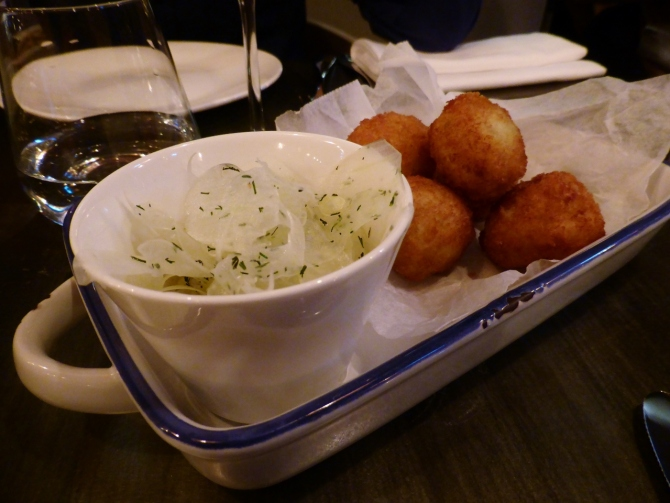 Bandol restaurant salt cod croquettes Hollywood Road Chelsea