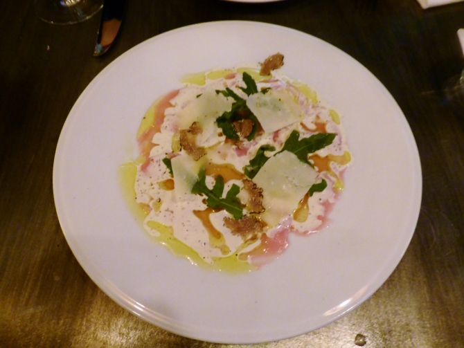 Bandol restaurant Hollywood Road Chelsea veal carpaccio