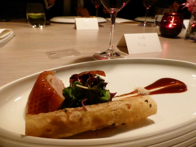 Hakkasan HKK restaurant review Peking duck